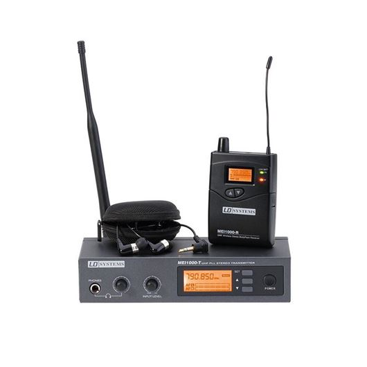 LD SYSTEMS MEI 1000 G2 In-Ear Monitoring System drahtlos, Frequenzbereich 823–832 / 863–865MHz anmeldefrei