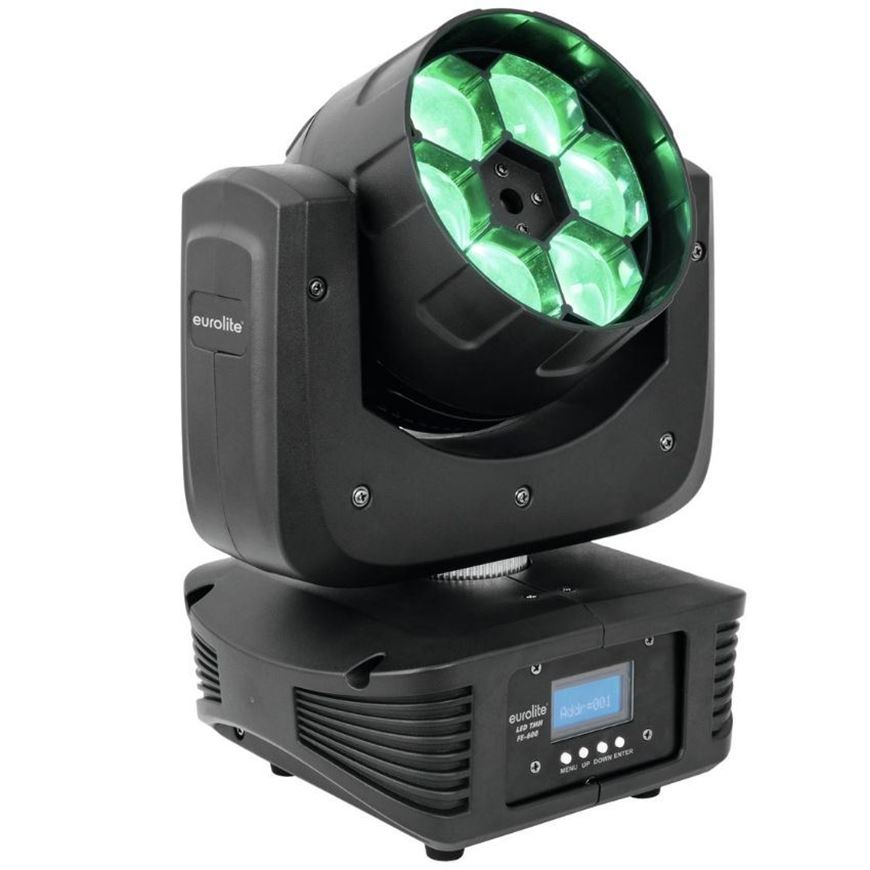 Eurolite LED TMH FE-600 BeamFlowereffekt RGBW-MovingHeadFlower mit rotierender Linse und Zoom, 6 x 12Watt LED